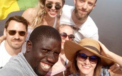 Gorée et Lac Rose avec Estelle, Séverine, Michael