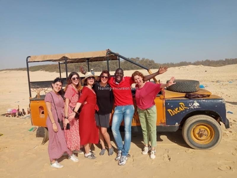 Les dunes et le lac Rose avec Audrey et ses amies